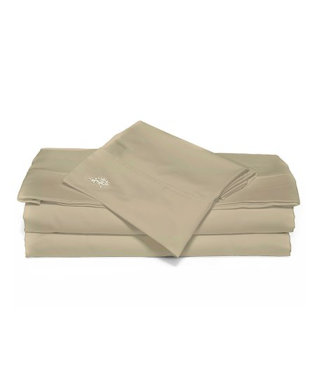 Khaki Sateen Luxury Sheet Set