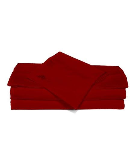 Red Sateen Luxury Sheet Set