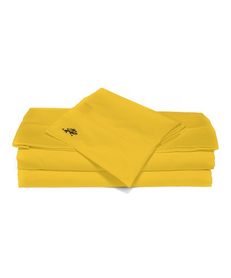 Yellow Sateen Luxury Sheet Set