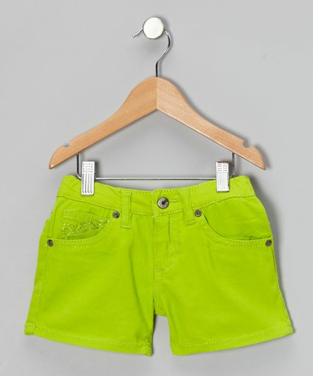 Kiwi Lime Shorts - Girls
