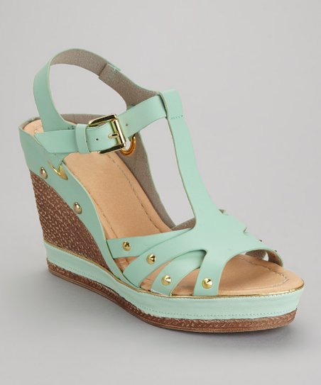 Sage Green Carissa-02 Wedge Sandal