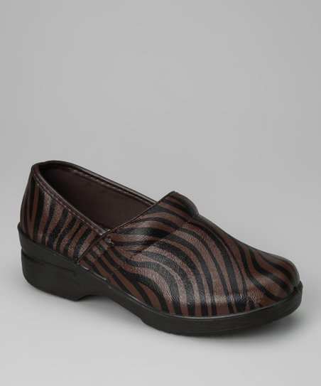 Brown Zebra Clog