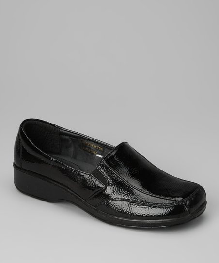 Black Smooth Patent Loafer