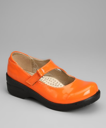 Orange Patent Dannis Mary Jane Clog