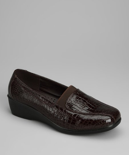 Brown Croco New Loafer