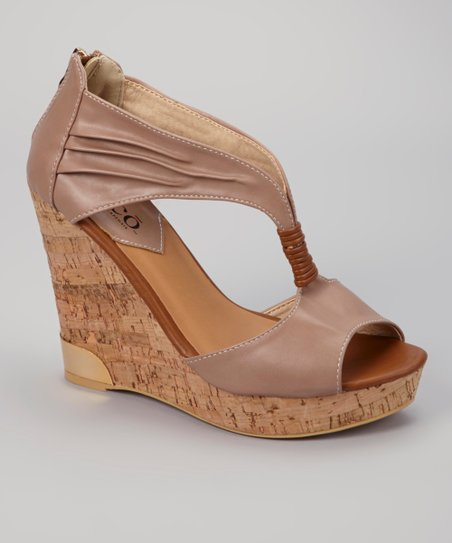 Taupe Auden Wedge