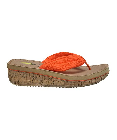 Orange Eyelee Wedge Sandal