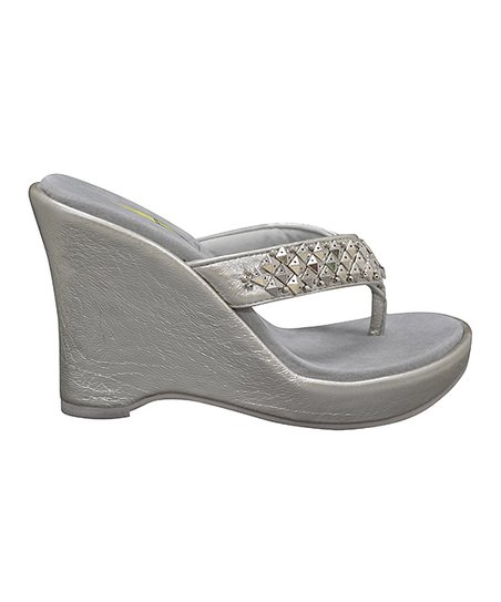 Silver Fatale Wedge