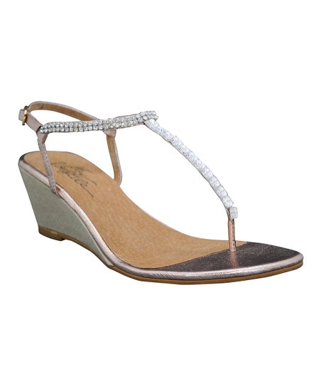 Rose Gold Jive T-Strap Sandal