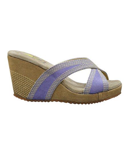 Lavender Lanelines Wedge Slide