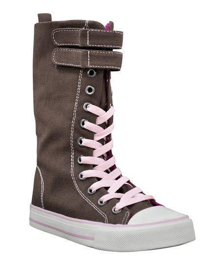 Brown Lovebird Hi-Top Sneaker