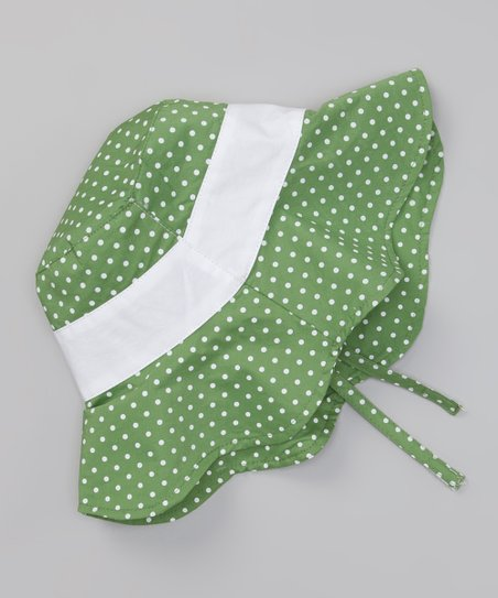 Green Polka Dot Sunhat