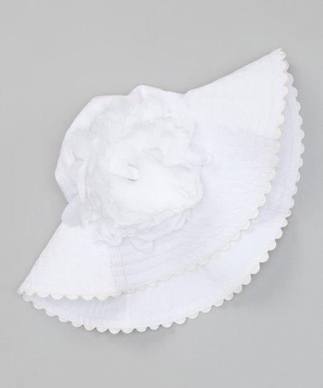 White Flower Sunhat
