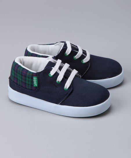 Navy Scottish Plaid Ramos Sneaker