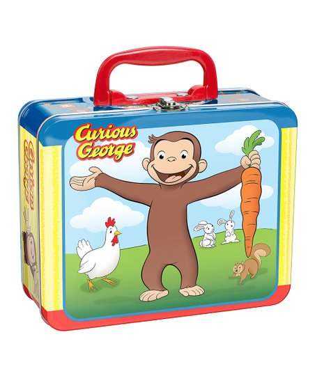 Curious George Tin Carrot Lunch Box & Puzzle