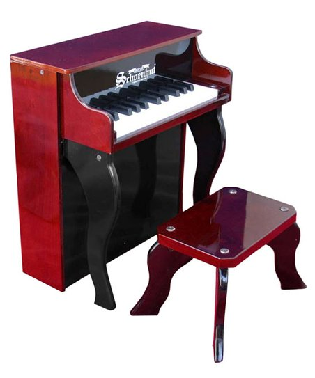 Mahogany &amp; Black 25-Key Elite Spinet &amp; Bench