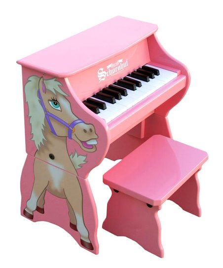 Pink 25-Key Piano Pals & Bench