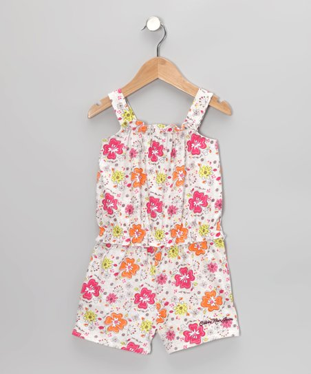 Honey & Fuchsia Floral Romper - Infant, Toddler & Girls
