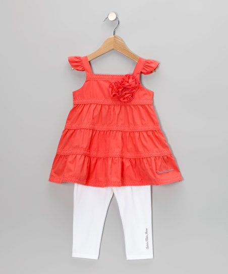 Coral Angel-Sleeve Tunic & Leggings - Infant