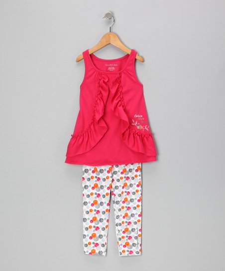Fuchsia Tunic & Polka Dot Leggings - Infant