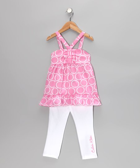 Medium Pink Tunic & Jeggings - Toddler