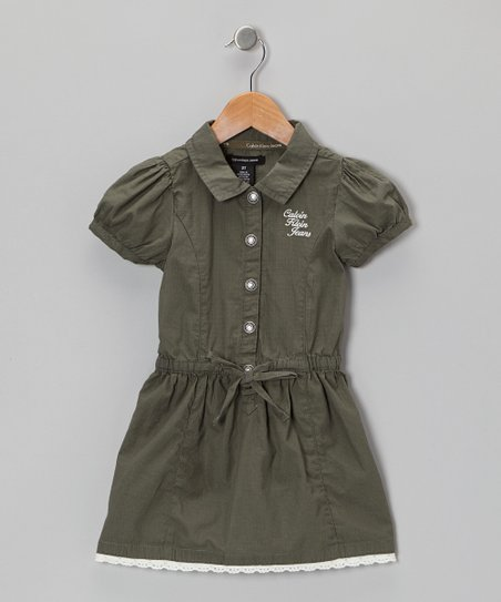 Green Shirt Dress - Toddler & Girls