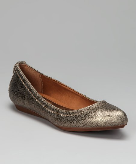 Platinum Leather Ciela Flat
