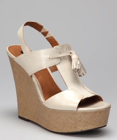 Off-White Brynne T-Strap Slingback Wedge