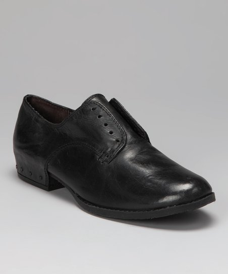 Black Leather Romie Oxford