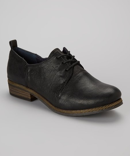 Black Leather Rei Oxford