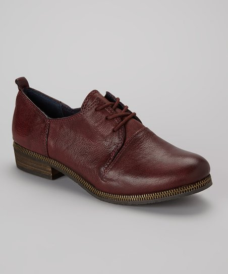 Dark Red Leather Rei Oxford