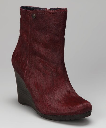 Berry Haircalf Odelle Wedge Boot