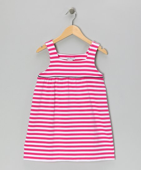 Pink Stripe Jersey-Knit Swing Dress - Toddler & Girls
