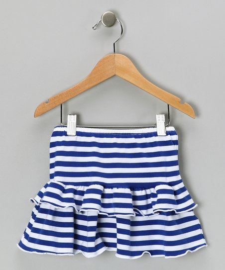 Blue Jersey Knit Skirt - Girls