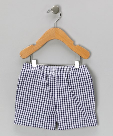 Navy Seersucker Shorts - Infant, Toddler & Boys