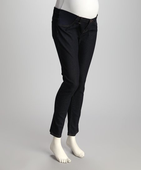 Navy Under-Belly Maternity Denim Jeans