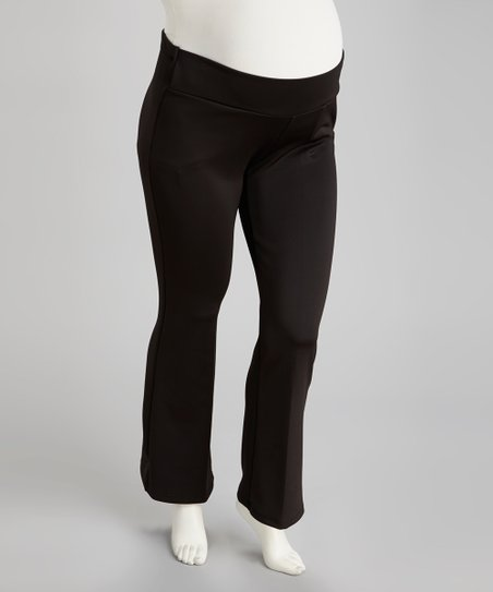 Black Under-Belly Maternity Pants