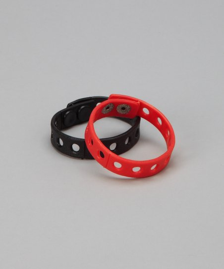 Red & Black Bracelet Set