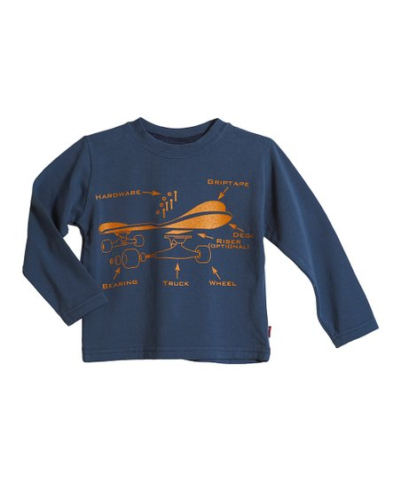 Blue Skateboard Parts Soft Stretch Tee - Infant, Toddler & Boys