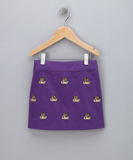 Purple Louisiana State Skirt - Girls