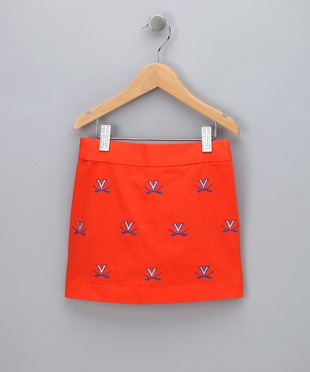 Orange Virginia Skirt - Girls