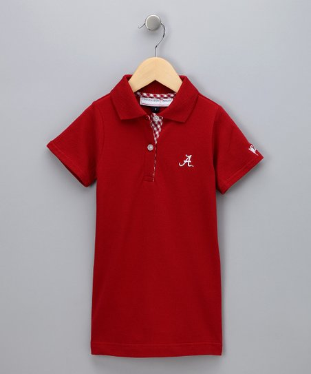 Crimson Alabama Polo Dress - Girls
