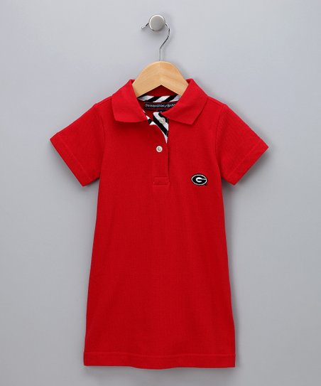Red Georgia Polo Dress - Girls
