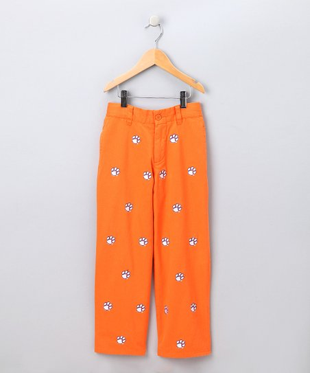 Orange Clemson Pants - Boys