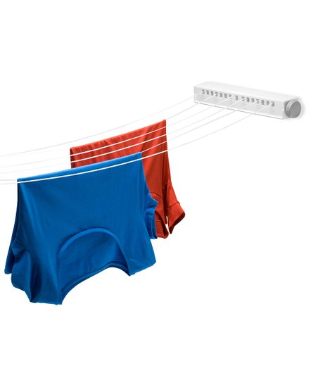 White Six-Line Extendable Clothesline