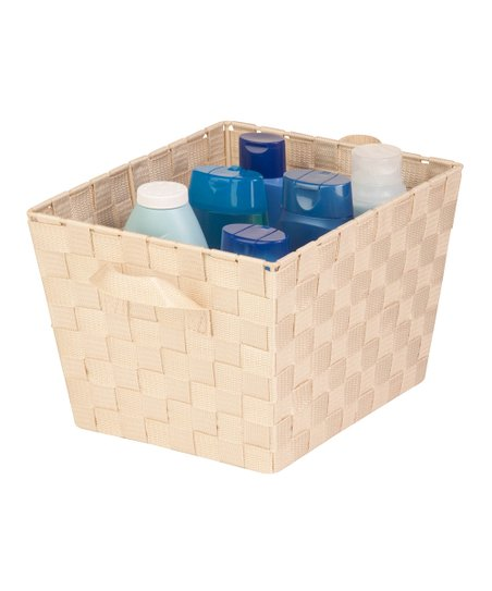 Cream Medium Woven Shelf Bin