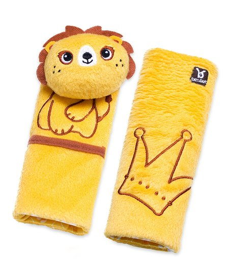 Yellow Lion Seat Belt Pad Set