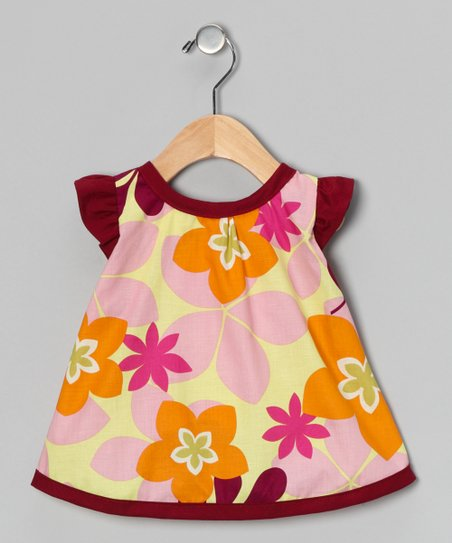 Burgundy Candie Wrap Top - Infant