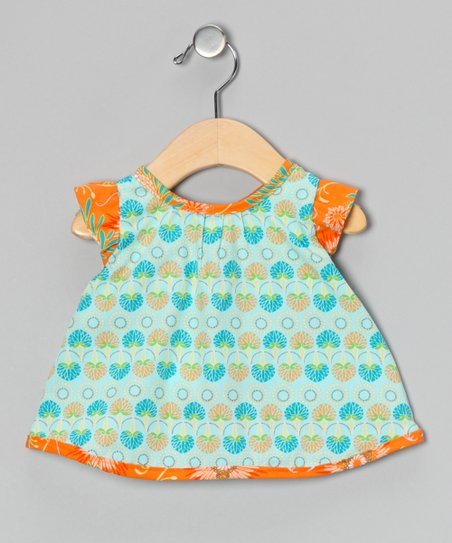 Orange Candie Wrap Top - Infant