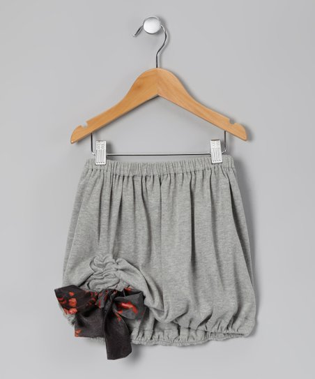 Gray &amp; Black Leland Bubble Skirt - Toddler &amp; Girls